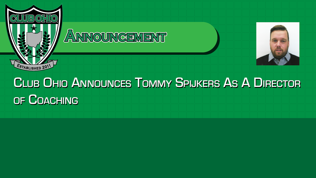 Club Ohio Announces Tommy Spijkers as a Director of Coaching